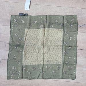 (2/$15) NWT Halston Lifestyle Silk Green Floral Scarf